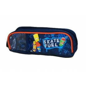 "BART SIMPSONS - Trousse rectangulaire ""Skate Fuel"" 2 compartiments"