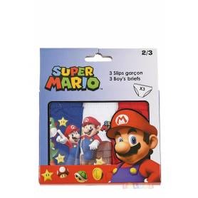 Super Mario - Lot de 3 slips de 2 à 8 ans