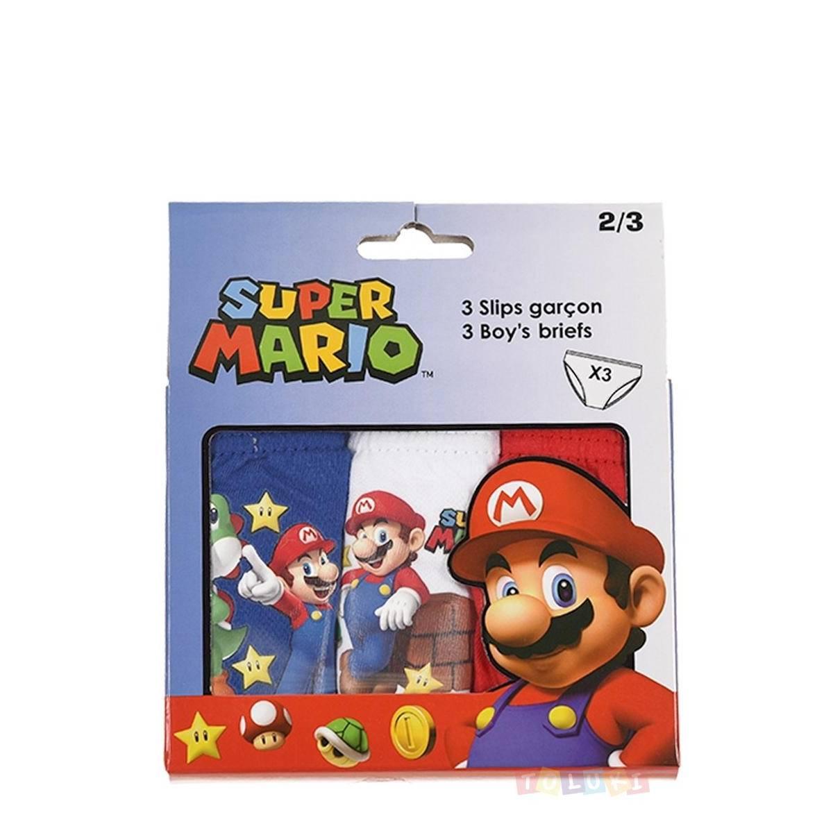 Super Mario - Lot de 3 slips de 2 à 8 ans