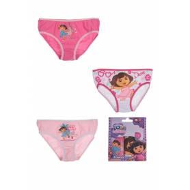 Dora l'Exploratrice - Lot de 3 slips de 2 à 8 ans