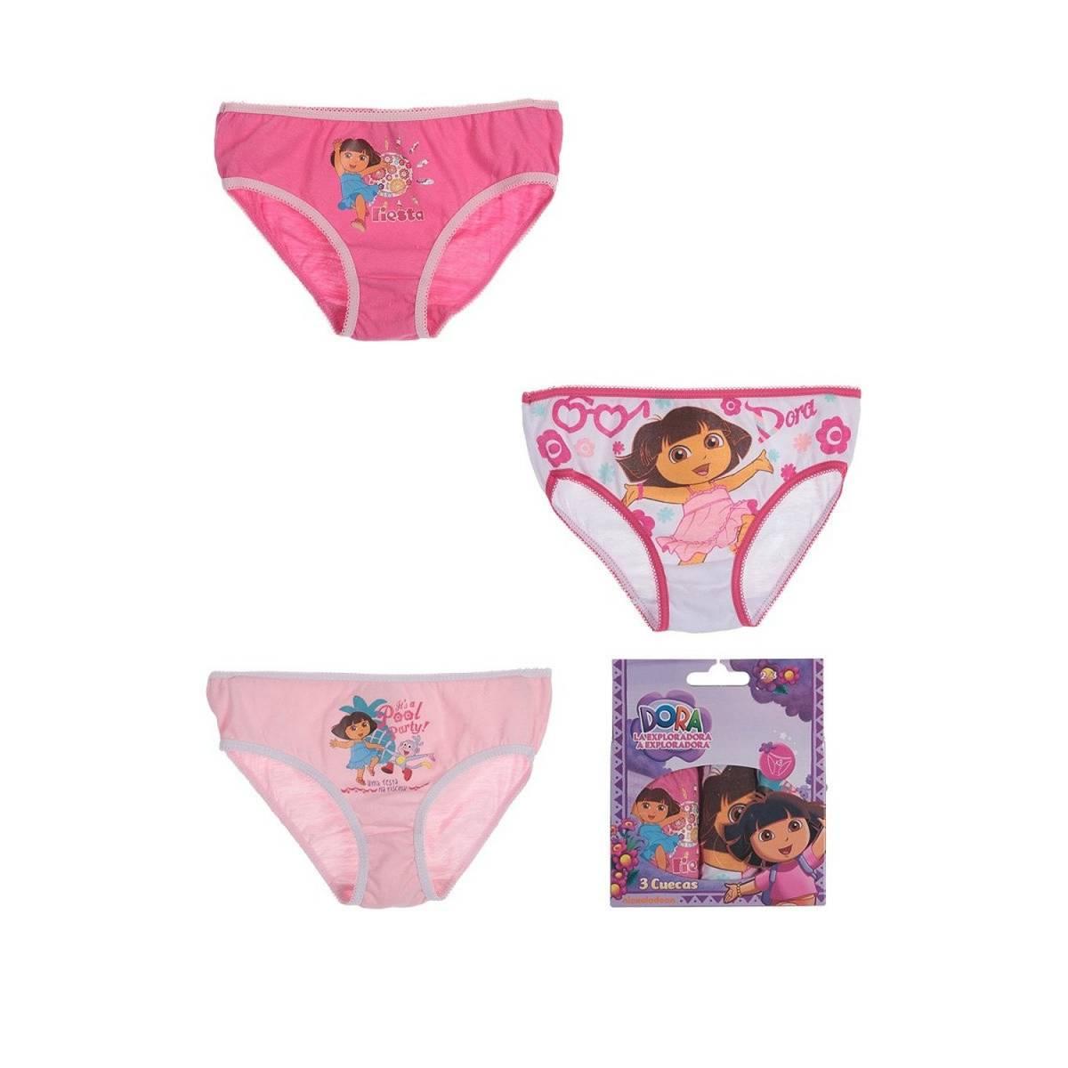 Dora l'Exploratrice - Lot de 3 culottes de 2 à 8 ans