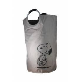 Snoopy Panier à linge enfant- taupe- 35 x 68 cm