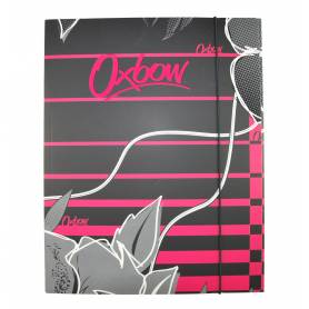 """Oxbow - Chemise à élastique avec rabat """"Flower"""" A4 - 24x32 cm"""