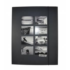"""Oxbow - Chemise à élastique avec rabat """"Grey"""" A4 - 24x32 cm"""