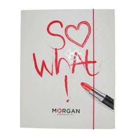Morgan - Chemise à élastiques avec rabat A4 - 24x32 cm