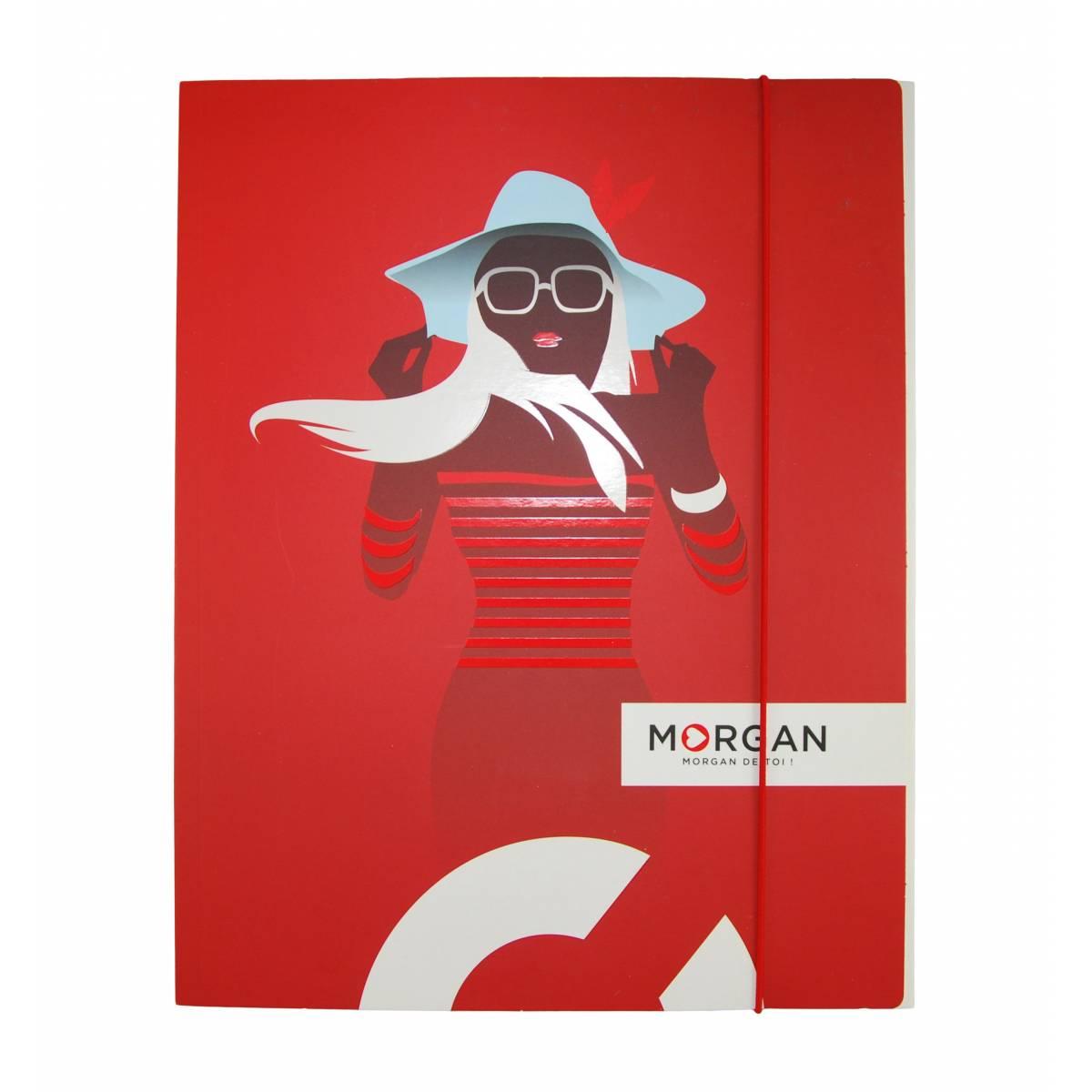 """Morgan - Chemise à élastique """"So What"""" avec rabat A4 - 24x32cm"""