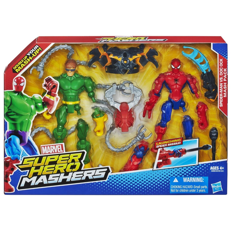 marvel figurines super hero mashers spider man vs dr octopus. Black Bedroom Furniture Sets. Home Design Ideas