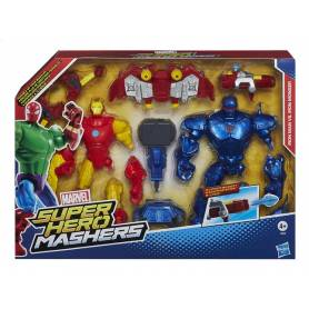 Marvel - Figurines Super Hero Mashers - Iron Man vs Iron Man Monger