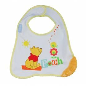 Winnie l'ourson Bavoir naissance avec anneau de dentition jaune