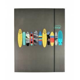 """Oxbow - Chemise à élastique """"Surf"""" avec rabat A4 - 24x32cm"""