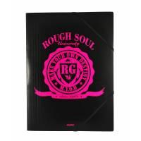 """RG 512 - Chemise à élastiques """"Rough Soul"""" avec rabat A4 - 24x32 cm"""