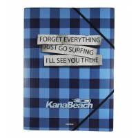 KanaBeach - Chemise à élastiques avec rabat A4 - 24x32 cm