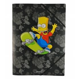 Les Simpson - Chemise à élastiques avec rabat A4 - 24x32 cm