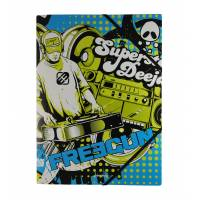 "Freegun - Chemise à élastiques ""Superstar deejay"" avec rabat A4 - 24x32 cm"