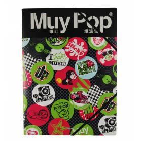 Muy Pop - Chemise à élastiques avec rabat A4 - 24x32 cm
