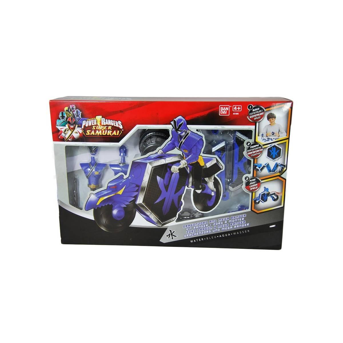 Power Rangers - Super Samurai - Figurine bleue + DragonZord
