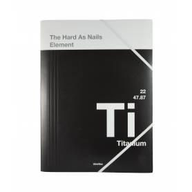 """The Big Element - Chemise à élastiques """"Titanium"""" avec rabat A4 - 24x32 cm"""