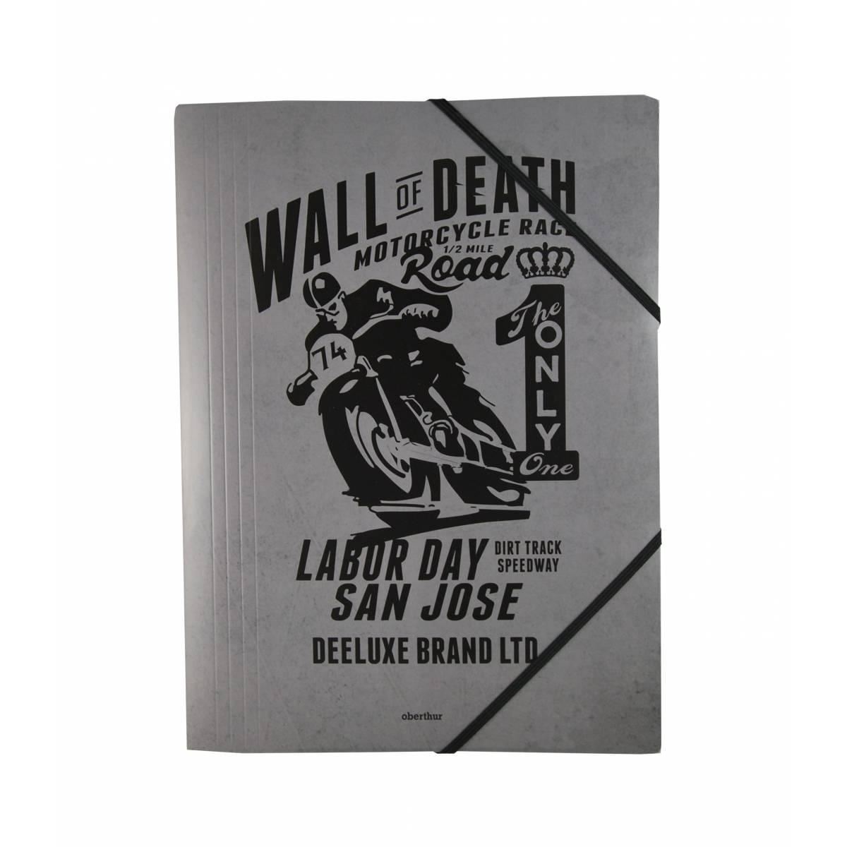 """Deeluxe - Chemise à élastiques """"Riders"""" avec rabat A4 - 24x32 cm"""