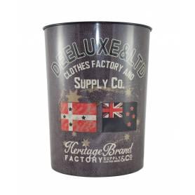 """Deeluxe - Corbeille à papier """"Heritage Brand"""" en métal"""