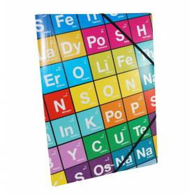 """The Big Element - Chemise à élastiques """"Multi"""" avec rabat A4 - 24x32 cm"""