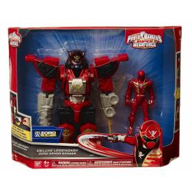 Power Rangers - Figurine Ranger rouge + Exo Armure 18cm