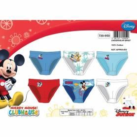 Mickey Mouse - Lot de 3 slip garçon - 2 à 8 ans