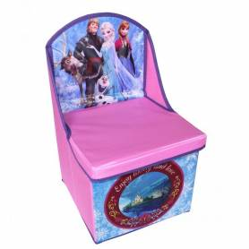 La reine des neiges - Chaise pouf de rangement 28x28x48
