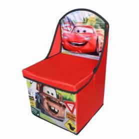 Cars et Martin - Chaise pouf de rangement 28x28x48