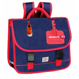 BENSIMON Color Cartable bleu 2 compartiments - 36 cm - CP