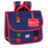 BENSIMON Color Cartable bleu 2 compartiments - 36 cm