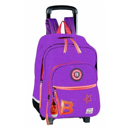 BENSIMON Patch Cartable à roulette 49 cm - Violet