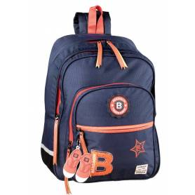 BENSIMON Patch Backpack 2 compartments - 41 cm, Blue