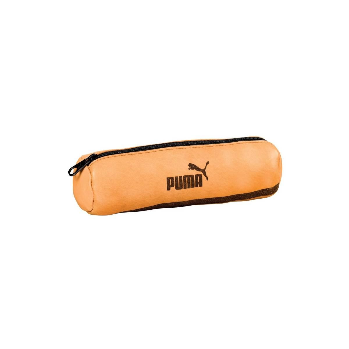 Trousse ronde scolaire PUMA cuir - 22 x 7