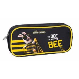 "Lapins Cretins - Trousse scolaire rectangulaire ""Bee"" - 22 x 10 cm"