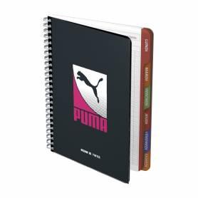 "Cahier de textes ""Puma"" - Reliure spirales rose"