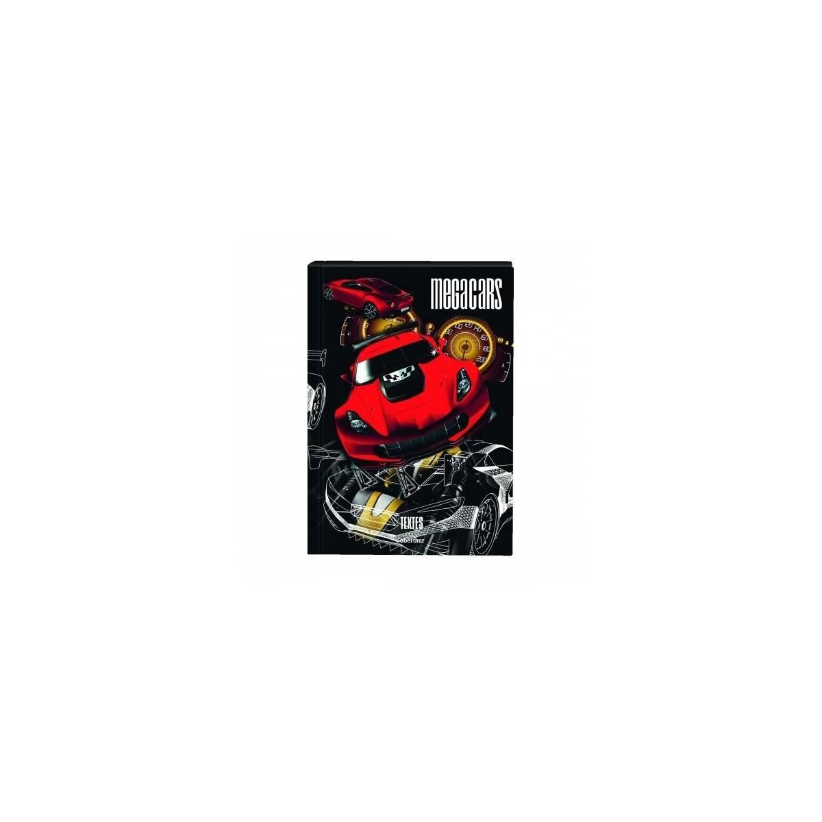 Cahier de textes MegaCars rouge - Oberthur
