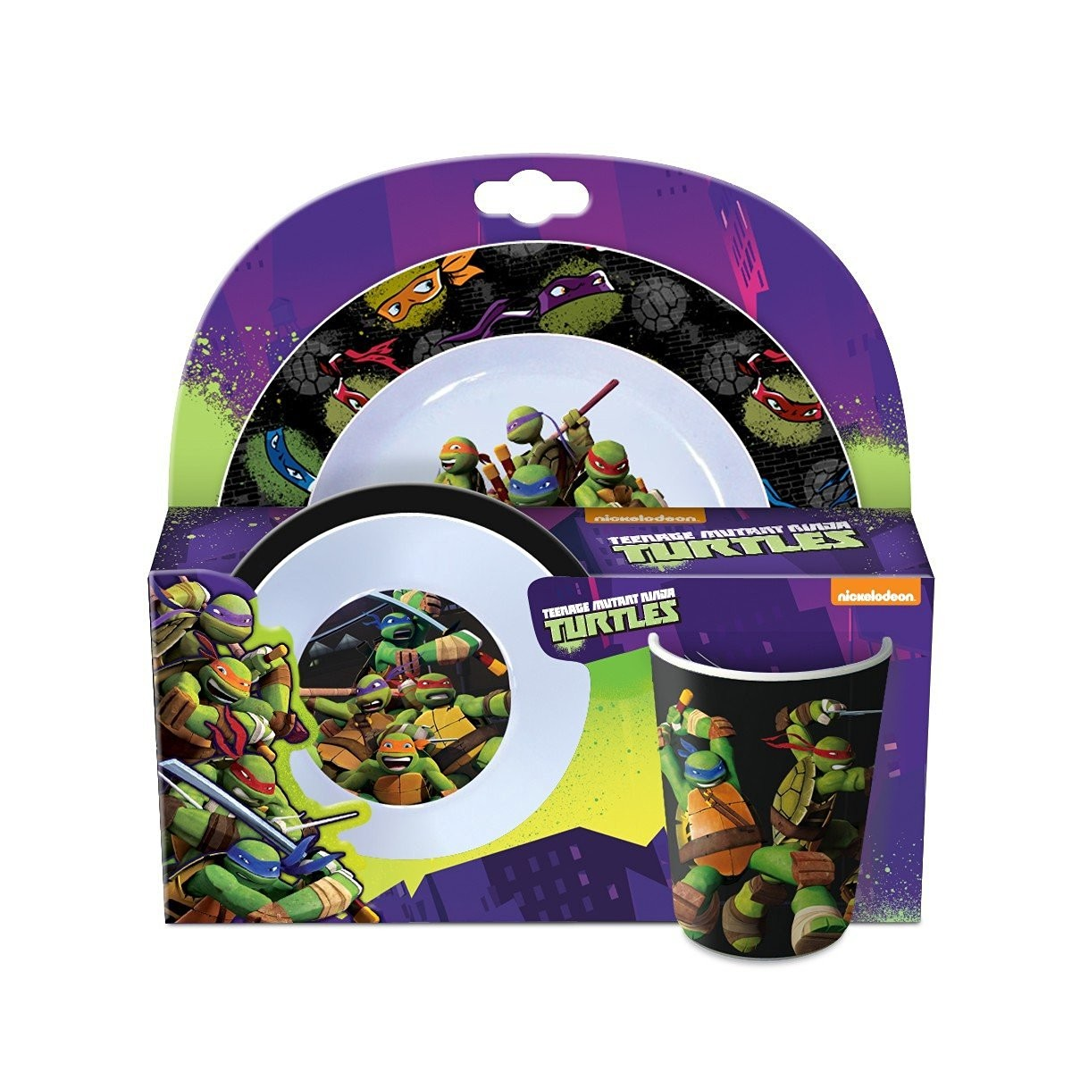 les tortues ninja set dejeuner 3 pieces melamine cadeaux - Tortues Ninja Tortues Ninja
