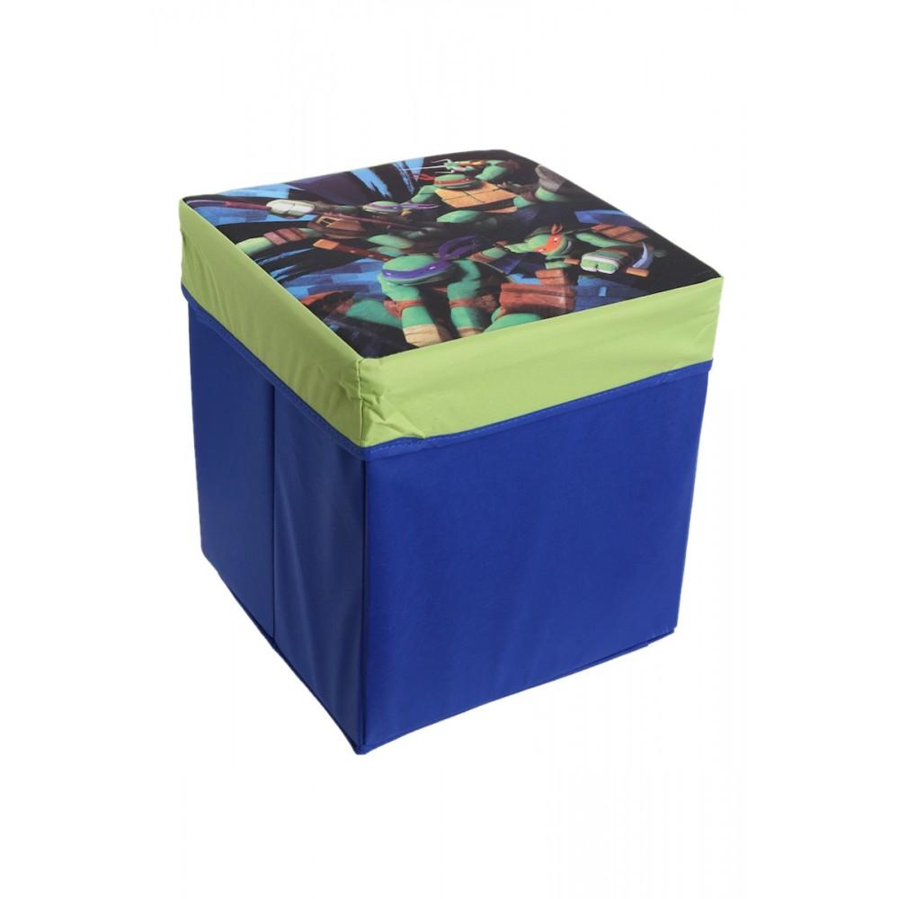 tortues ninjas boite tabouret pouf de rangement. Black Bedroom Furniture Sets. Home Design Ideas