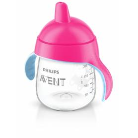 Philips AVENT Tasse à bec anti-fuites Rose 260 ml - 12m+