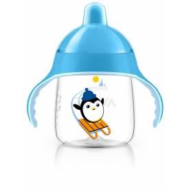 Philips Avent - Tasse bec anti-fuites Pingouin bleu - 260 ml