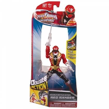 Power Rangers Super Megaforce - Figurine Ranger rouge - Double Action - 16 cm