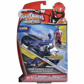 Moto Super Megaforce Power Rangers bleu