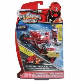 Moto Super Megaforce Figurine Power Rangers Rouge