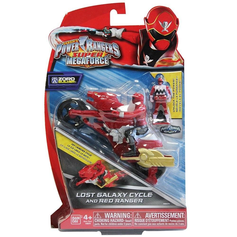 moto super megaforce figurine power rangers rouge. Black Bedroom Furniture Sets. Home Design Ideas