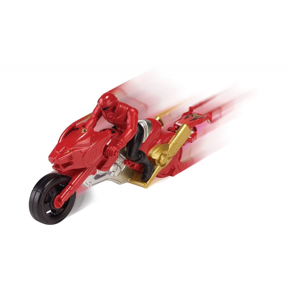 Moto super megaforce figurine power rangers rouge - Moto power rangers megaforce ...
