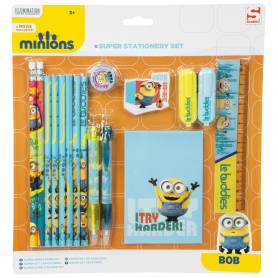 Les Minions : Super set papeterie - 16 pieces