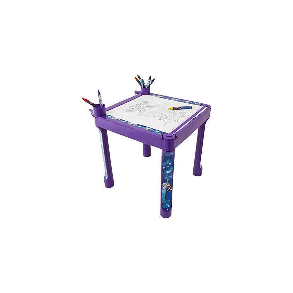 La reine des neiges table de coloriage 10 m tres de dessin for Table exterieur reine des neiges