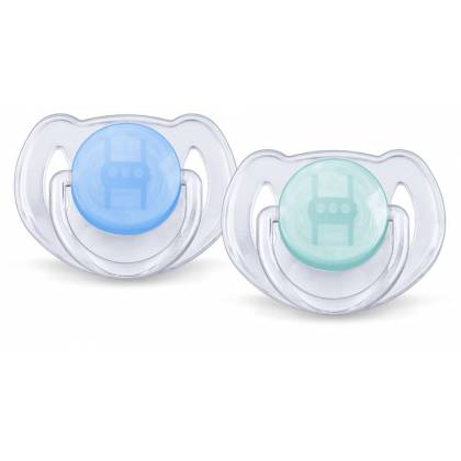 Philips Avent 2 Sucettes transparentes - Silicone 6-18 mois
