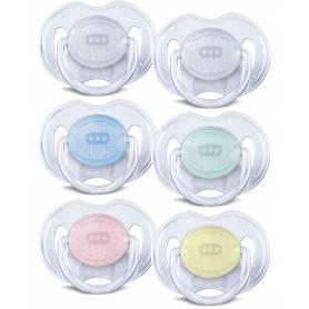 Philips Avent 2 Sucettes transparentes - silicone 0-6 m Orthodontique