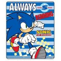Sonic - Plaid Couverture Polaire enfant - 120 x 140 cm